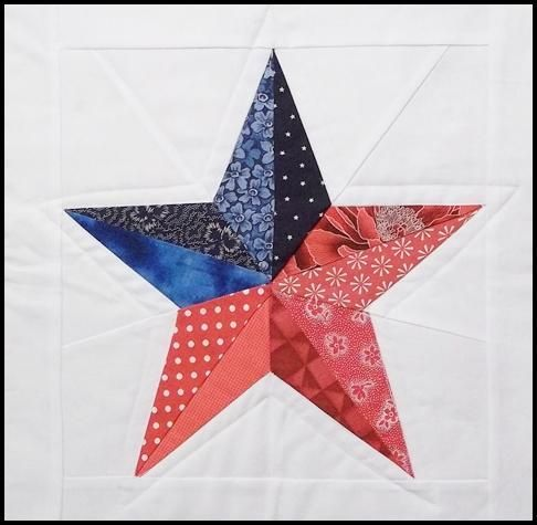 Quilting: 5 Pointed Star Paper Piecing