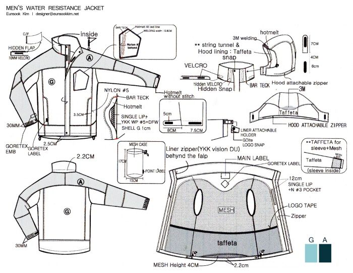 extreme technical design for jacket