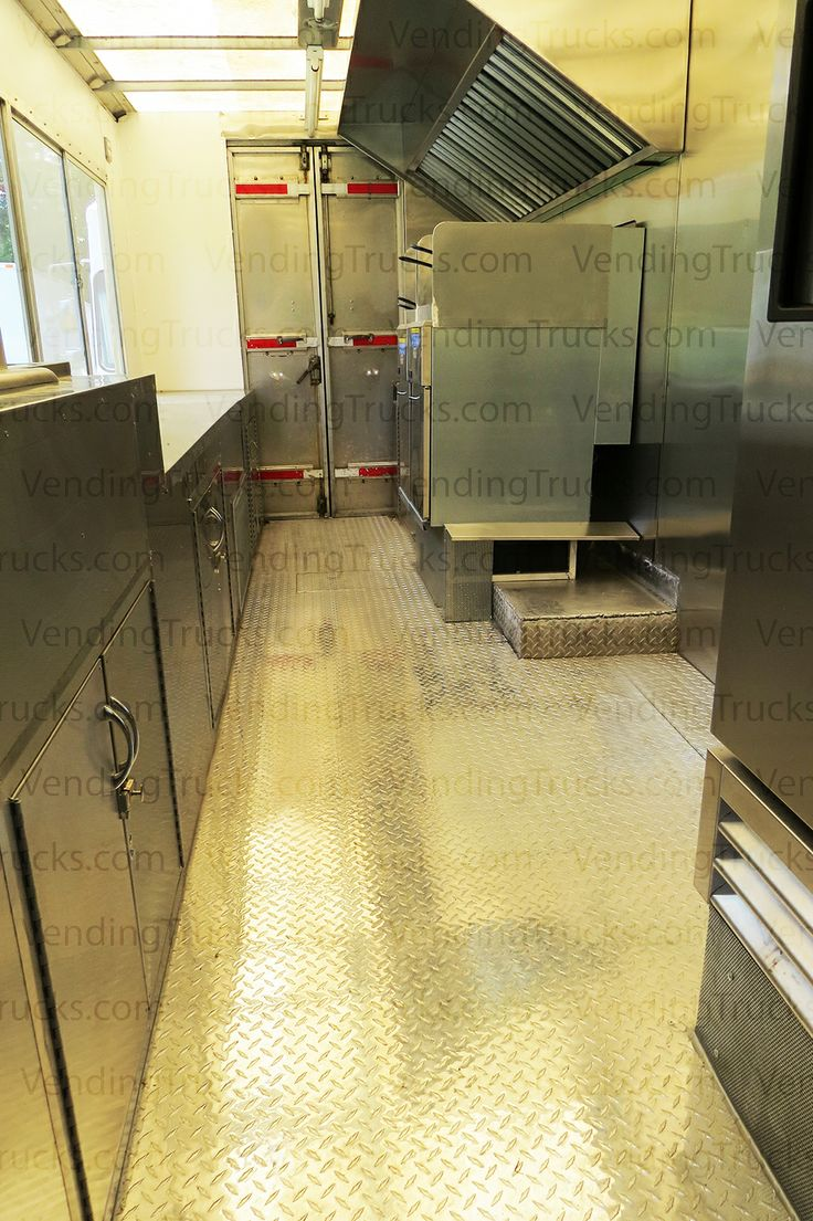 35 best vti mobile kitchen interiors images on pinterest kitchen interior view of a nearly completed step van add a flat grill or steam table into this mobile kitchen and it s ready to roll