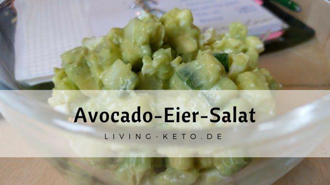 Avocado-Eiersalat. Praktisch ohne Kohlenhydrate. Sehr gehaltvoll, hält sehr lange satt. Perfekt für unterwegs und ideal, wenn es schnell gehen soll.