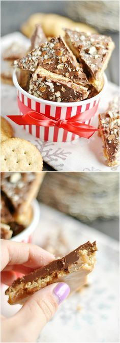 Ritz Cracker Toffee - So easy to make and is always a hit with friends!
