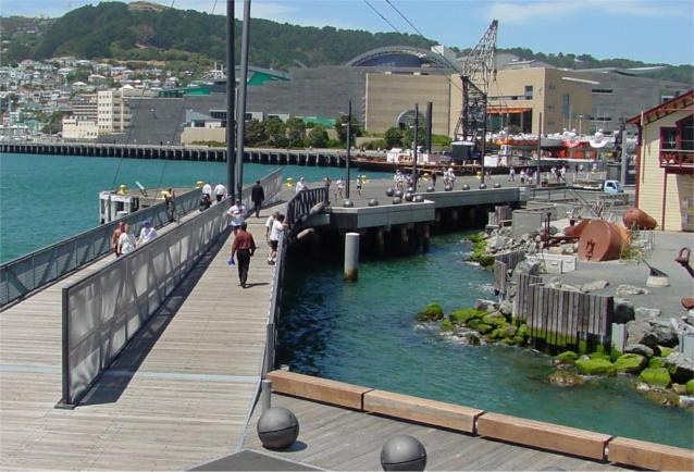 Foot bridge leading to Te Papa