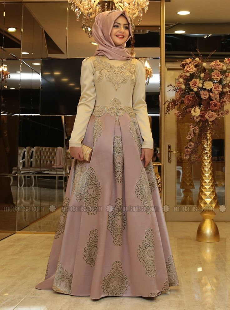 Harem Evening Dress - Powder - Pinar Sems