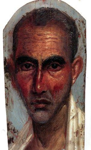 Les portraits du Fayoum (Egypte) Regular citizens had naturalistic and non-idealized portraits