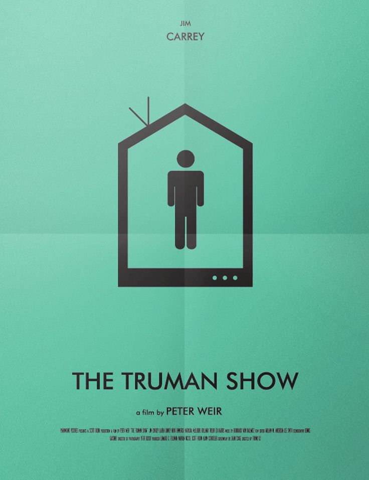 the truman show 1998 minimal movie poster by arianna