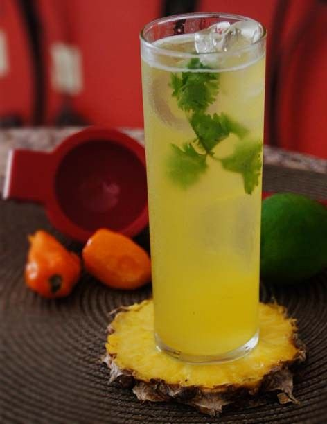 Spicy Pineapple Margarita: Heat things up with this habanero-laden sip of tequila, orange liqueur, diced pineapple and cilantro-infused simple syrup. The subtle spice is cooled by the sweetness of the muddled fruit, cheers!