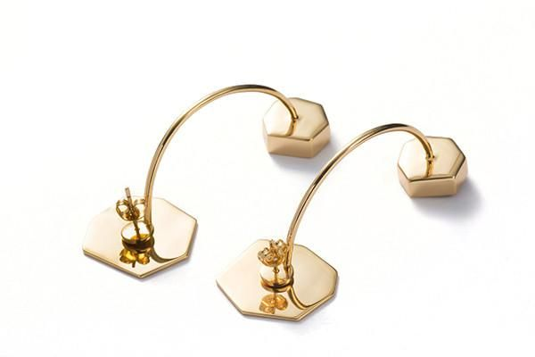 What does it express...?  Exclusive handmade Hexagon U-Shaped Earrings from our latest collection 2016, comes in 925 Silver with 18K Gold Coating: https://goo.gl/0Vc9Q9