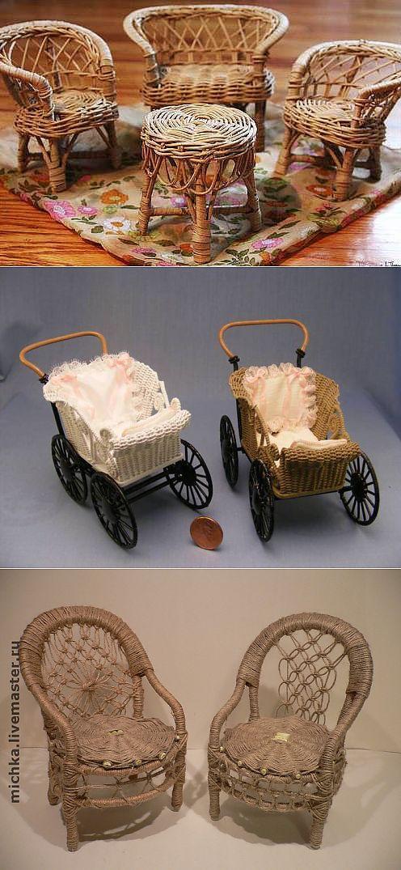 Плетеная мебель для кукол . Картинки для идей