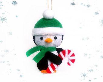 Adornos de Navidad muñeco de nieve muñecos fieltro por BelkaUA