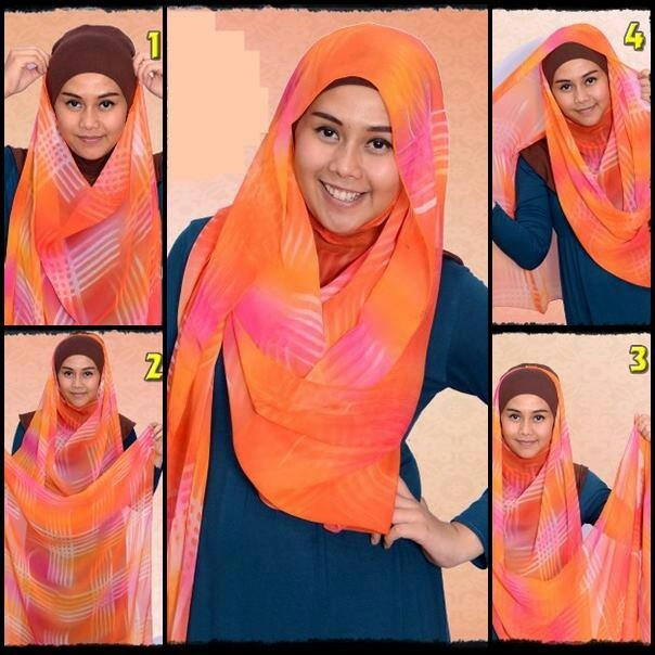 Simple shawl hijab tutorial