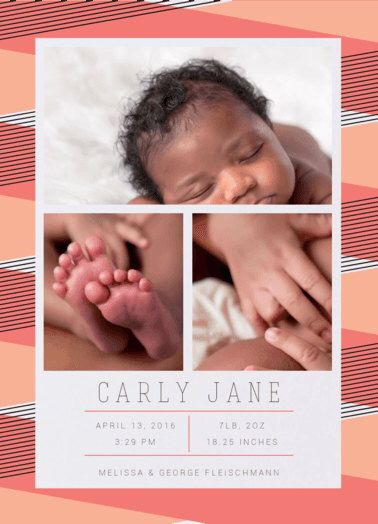 Baby Birth Announcement. Baby. Design Fee by PartyGlamourShopBaby on Etsy https://www.etsy.com/listing/262522615/baby-birth-announcement-baby-design-fee