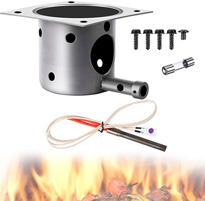 Mudder Fire Burn Pot And Hot Rod Ignitor Kit Replacement Parts For Pit Boss And Traeger Pellet Grill Plu In 2020 Pellet Grill Traeger Pellet Grill Cooking Replacements