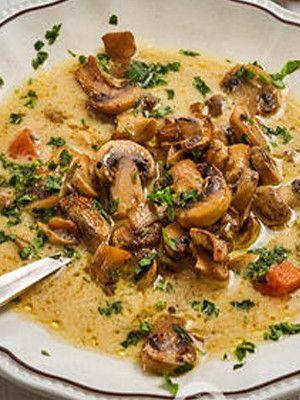 Вегетарианский суп из сушеных грибов