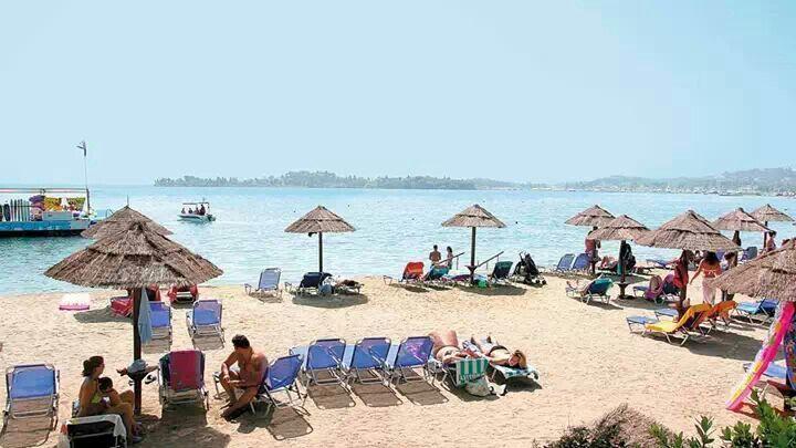 Gouvia Beach. Corfu. Thats where i spend my holiday right now!