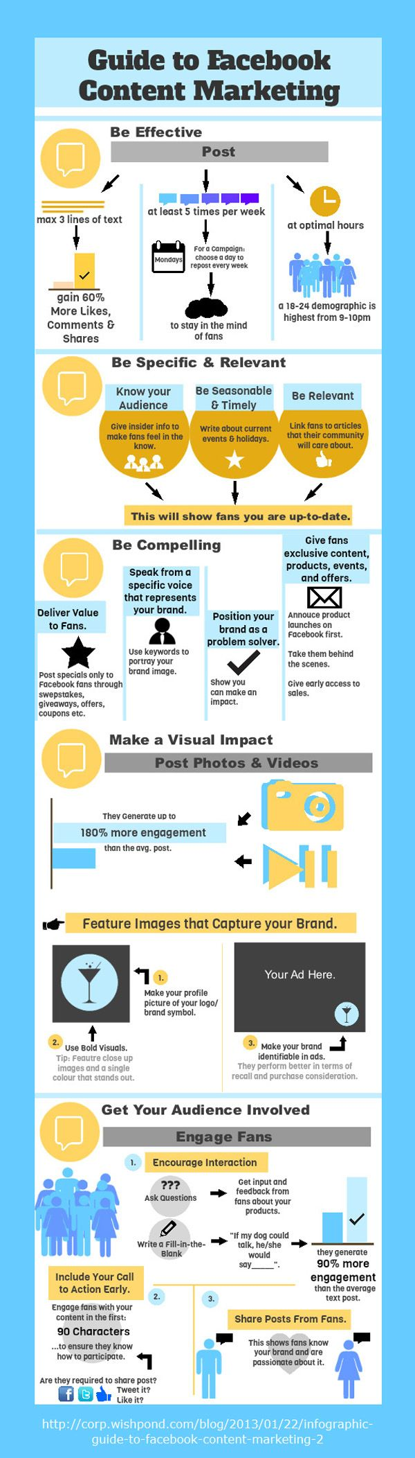 Facebook Content Marketing Tips-Infographic