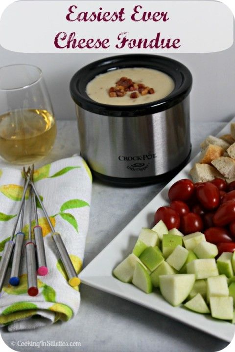 Easy Cheese Fondue | Cooking In Stilettos