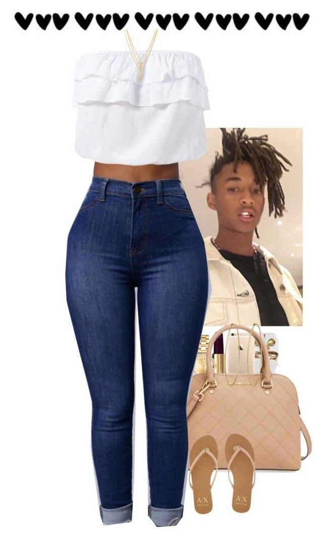 """You know I'm a high rollerrr✨"" by muvaaliyah ❤ liked on Polyvore featuring Chanel, Movado, MICHAEL Michael Kors, Kenzo, Social Anarchy and Armani Exchange"