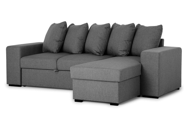 DEON 3-seters Divan-sovesofa Høyre Mørkegrå - Sofa med sjeselong - Sofaer - Møbler - Kategori  | FINN shopping