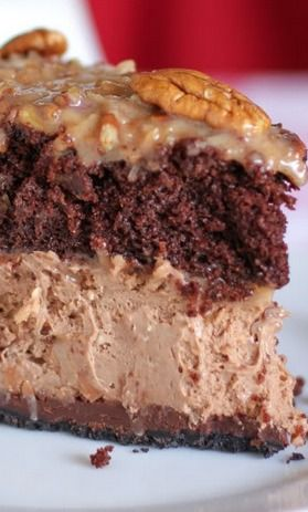 German Chocolate Cheesecake. If anyone wants to make me this for my birthday. I would greatly appreciate it.
