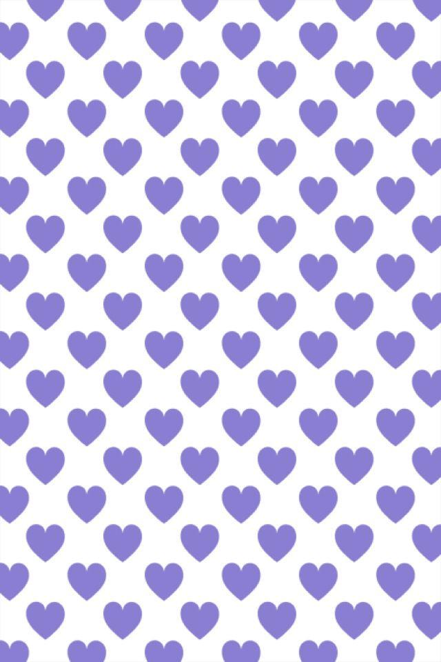 Corações roxos