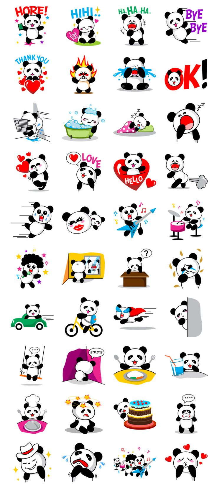 #Line #Sticker #Vector #Panda CULIPA - Cute Little Panda Use CULIPA - Cute Little Panda stickers to bring even more emotions to your chats!