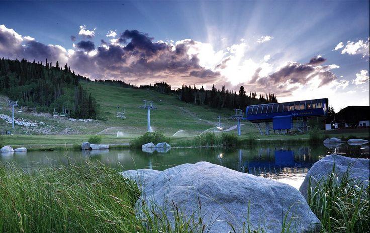 Disc golf course at Solitude Resort, Utah.