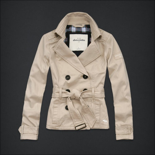 "New Abercrombie Kids Girls Trench Coat ""Britt"" Khaki Jacket Size Medium M 