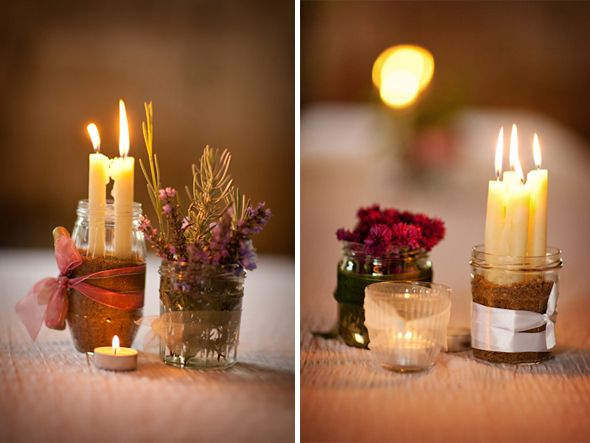 Ideas about rustic candle centerpieces on pinterest