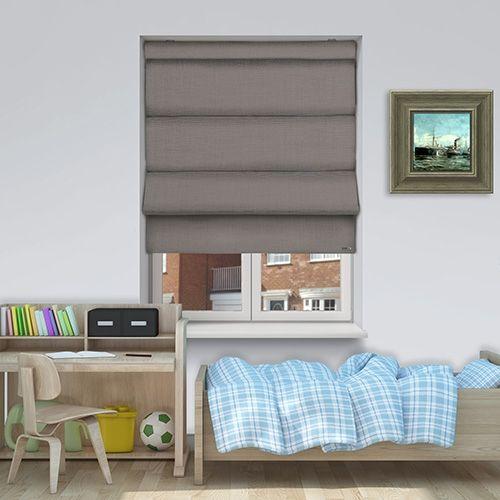 Controliss Turin Lupo. Battery powered roman blind. #Shades #Home #HomeDecor #InteriorDesign #Decor #RomanBlinds #CreateYourHome #BudgetBlinds #WindowShades #Window #Design #Blind #WindowCoverings #Windows #Blinds #MadeinUK