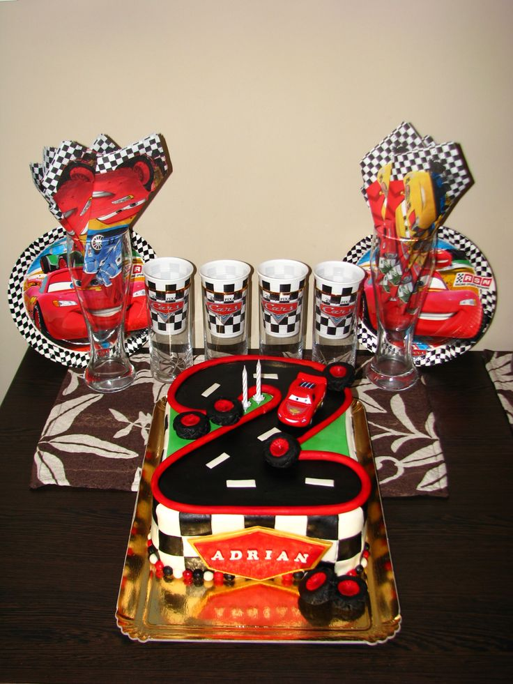 Cars cake for Adrian's 2nd birthday XV