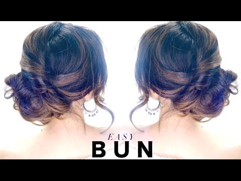 2-Minute Elegant BUN Hairstyle ★ EASY Updo Hairstyles - YouTube