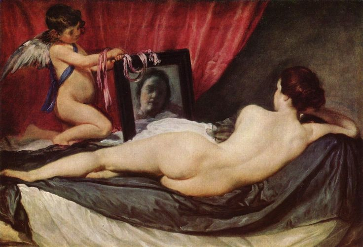 Diego Velázquez (Spanish 1559–1660) [Baroque, Portrait] Toilet of Venus, circa 1644-1648. National Gallery, London.