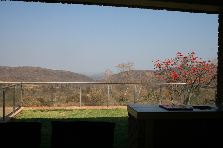 View from patio, lounge, dining room and bar