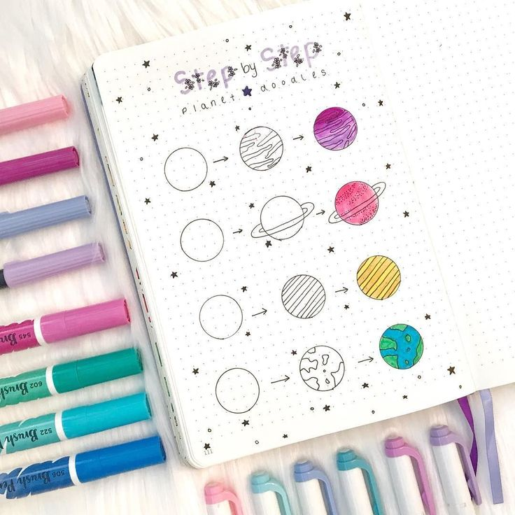 16 Doodle Tutorials (Step By Step) For Your Bullet Journal Make your bullet jour…