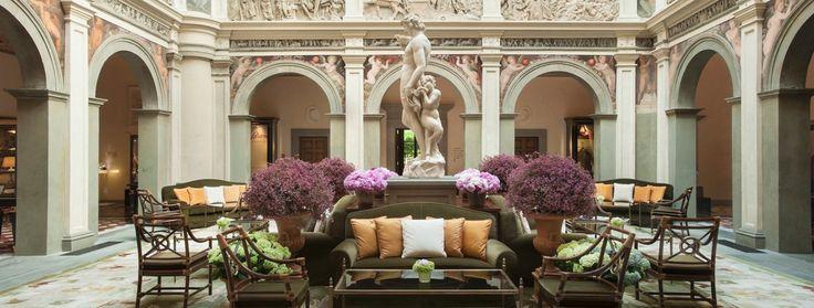 Four Seasons Florence - historical property - stunning lobby.  Amazing Virtuoso Property.