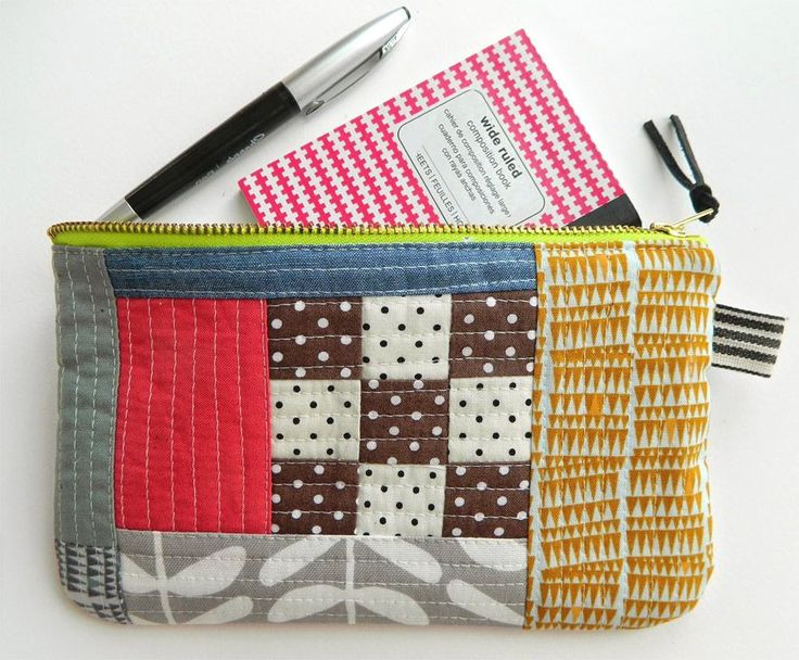 Color Block Pouch Free Tutorial DIY