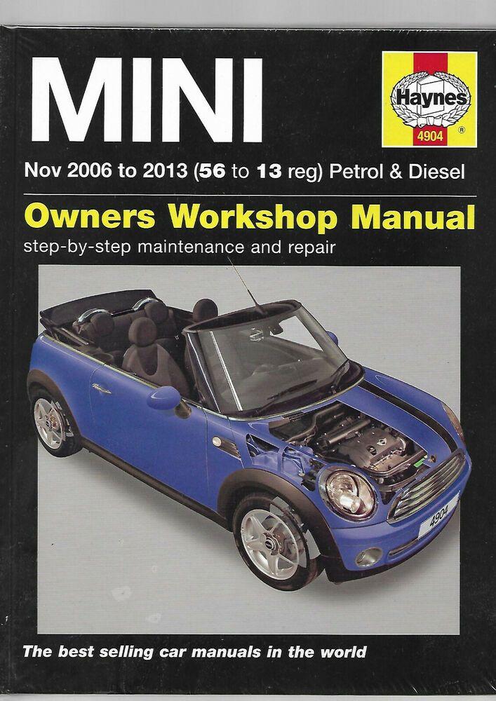 Haynes New Sealed Hardback Bmw Mini 2006 2013 Petrol Diesel Workshop Manual Mk2 Clubman Hatchback Bmw