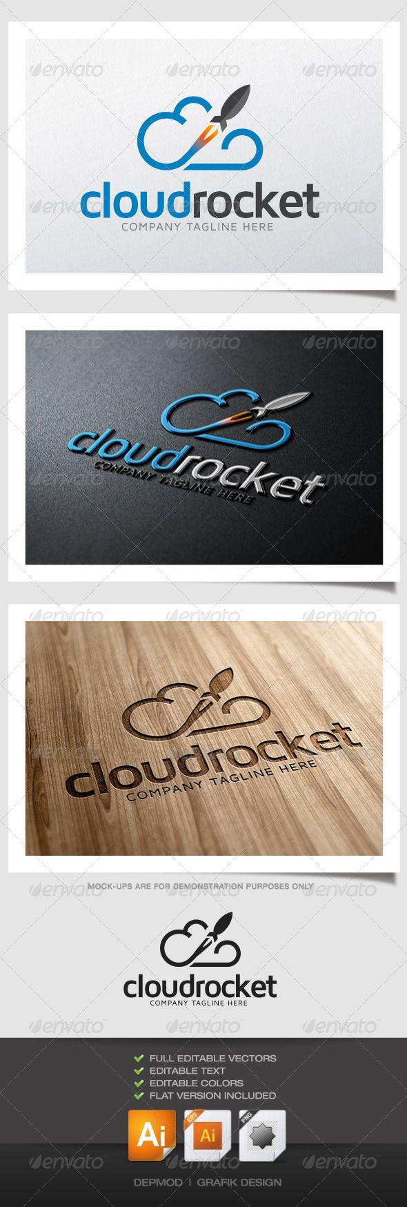 Cloud Rocket Logo - Symbols Logo Templates