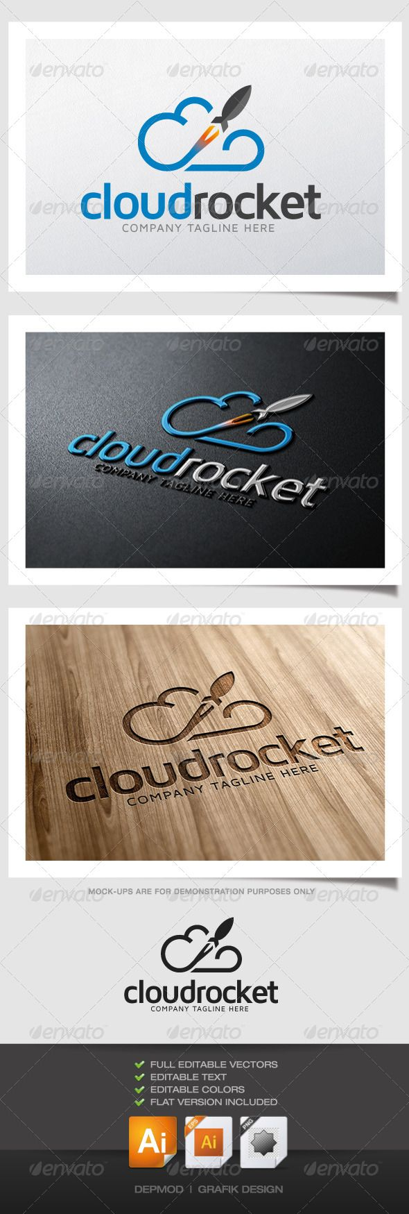 Cloud Rocket Logo - Symbols Logo Templates