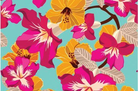 Virágok - festmény, rózsaszín, kék, papír, pictura, minta, nyár, virág, művészeti, akvarell, sárga, textúrát