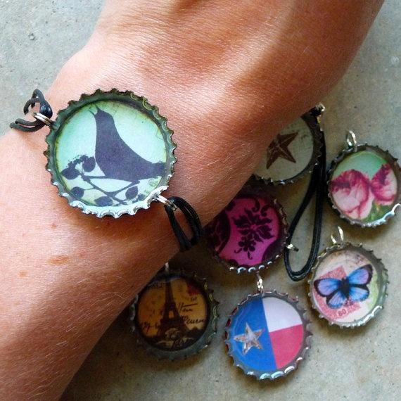 Top 25 best bottle cap jewelry ideas on pinterest diy for Diy bottle cap crafts
