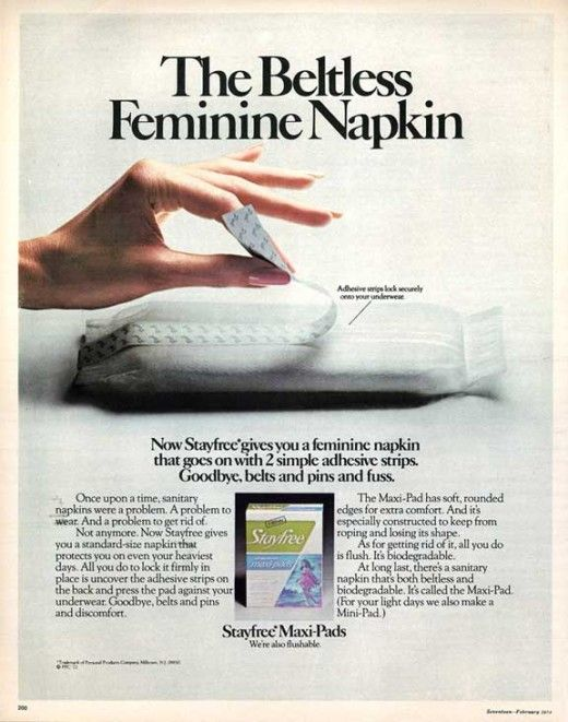 Sanitary Napkins And Menstrual Pads Of The Past And