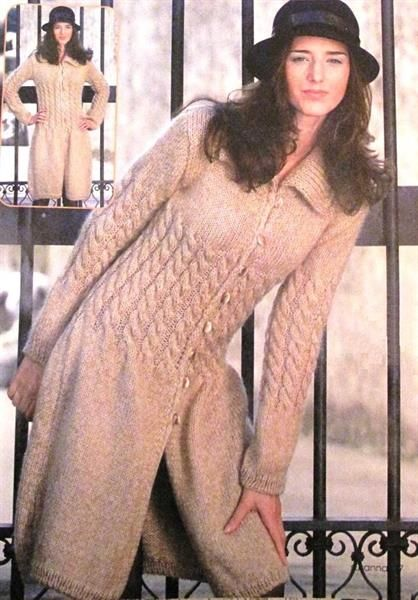 Вязание на спицах для женщин узоры для пальто