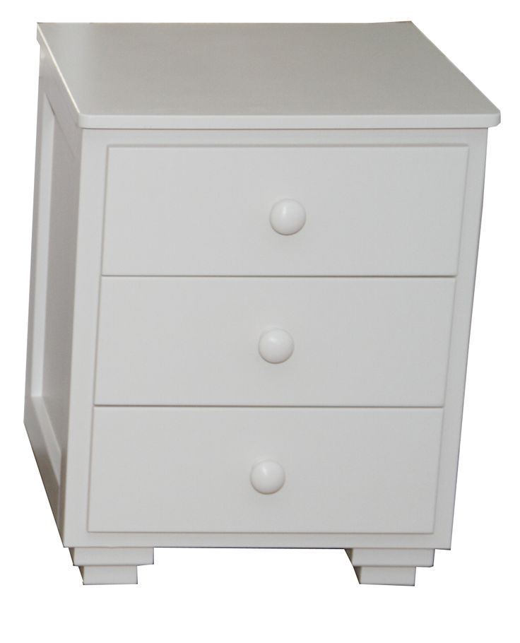 Teen side table with 3 drawers. 600(H)x500(W)x500(D) Available in all our colors