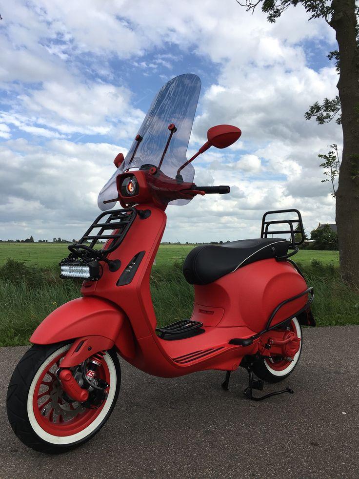 My Custom Vespa Sprint Opaco Rosso