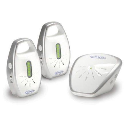 Graco Secure Coverage Digital Audio Baby Monitor, 2 Parent Units, White