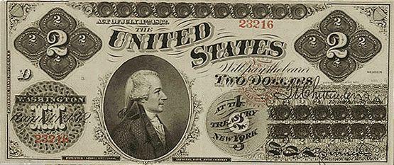 u.s. two dollar bill | 1862 U.S. $2 front – #bill #dollar #dollarbills #front