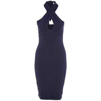 Feestelijke jurk in het donkerblauw van American Apparel. Vrouwelijk, elegant en chique!