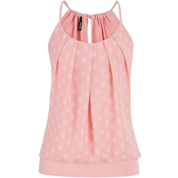 maurices Knit Tank With Pleated Chiffon Front In Floral Print ($24) ❤ liked on Polyvore featuring tops, tank tops, shirts, pink clay combo, banded bottom shirts, floral chiffon shirt, pink tank top, pink shirt and chiffon tank top