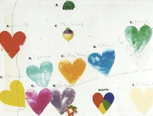 Jim Dine - The World (for Anne Waldman) | From a unique collection of Fine Art at http://www.1stdibs.com/art/